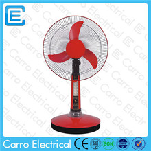 14 or 16 inch plastic table fan table fan specifications with led DC-12V16AL