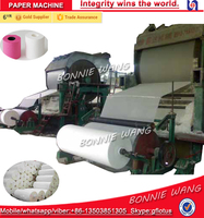 Small model waste paper recycling machinery, toilet tissue paper machines, bagasse paper making machine