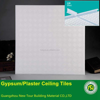 2015 Light Weight Acoustic Suspended Grg Gypsum Ceiling Tile for Interior Decoration