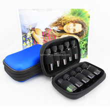 Turq PU + EVA essential oil case for 10 vials of 5ml/10/15ml in stock - MOQ 50pcs