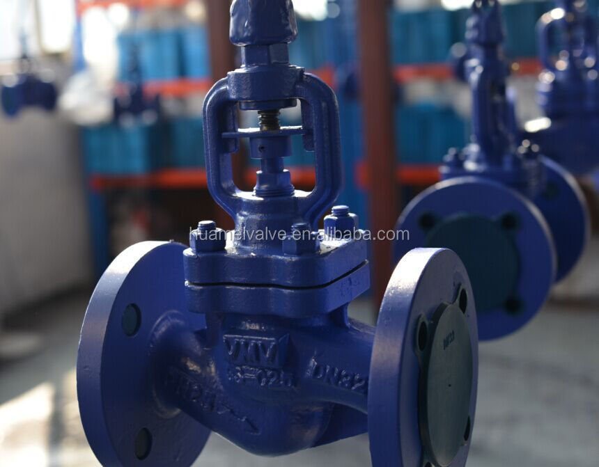 FOB GB Bellow Sealed Globe Valve drawing