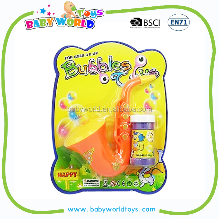Mouth blowing saxophone soap bubble guns toys