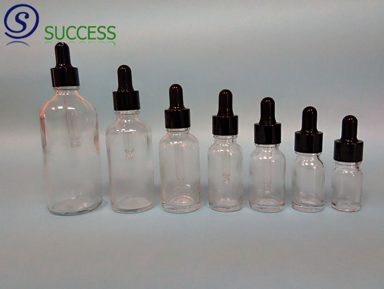 Clear Glass Essential Oil Bottle with Plastic Pump