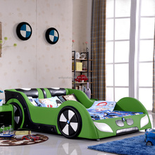 Race car bed green