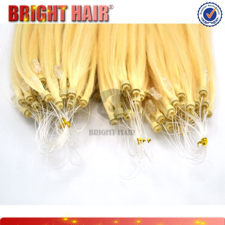 virgin Brazilian remy human hair Micro ring loop hair extension
