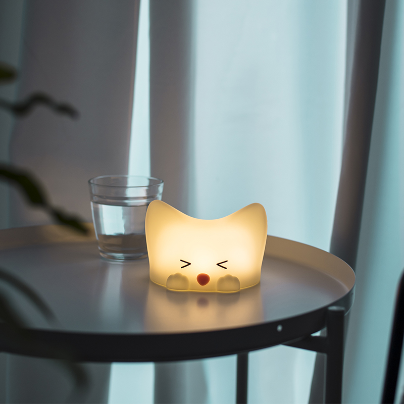 Mini Rechargeable Bedside Touch Sensor Silicone Lamp LED Baby Night Light for Kids