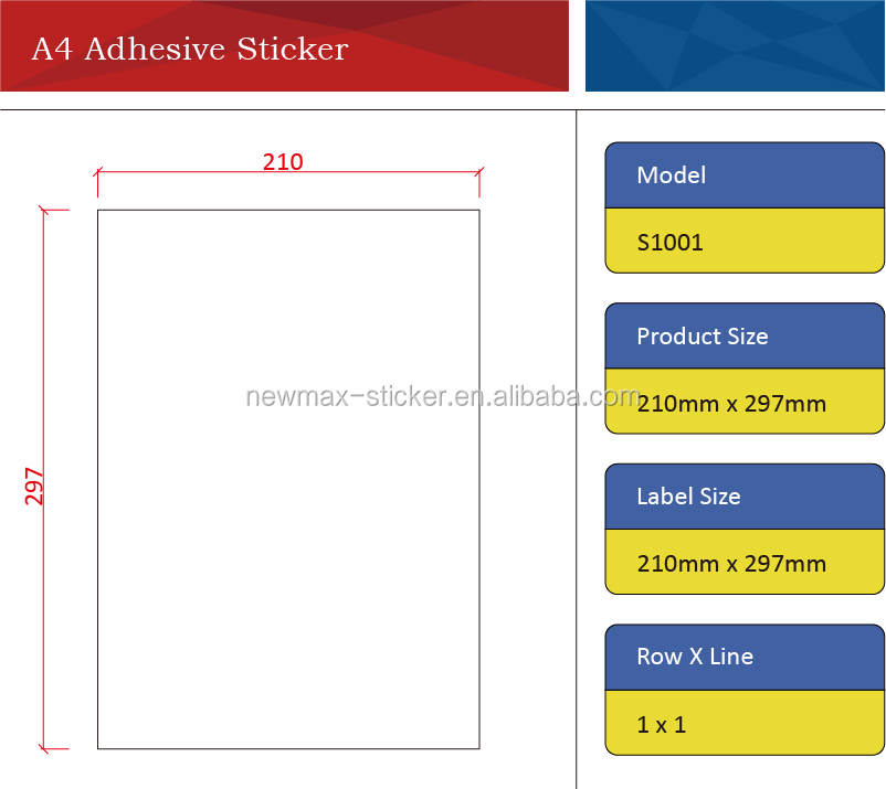 China Die Cut A4 Acrylic Sticker Label for Inkjet Printer