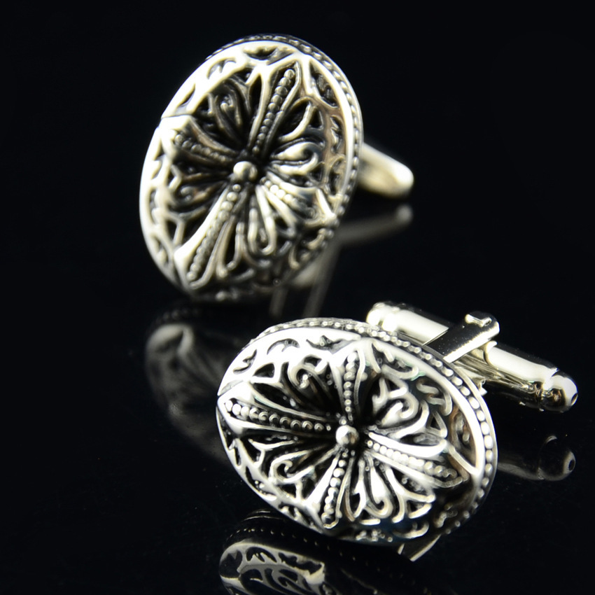 Fashion mens metal replica wholesale sterling silver cufflinks