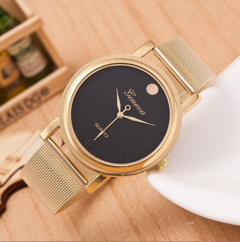 Hot Selling Casual Brand Geneva Gold Watch Leisure Simple Tables Men Watches Hour Clock Reloj