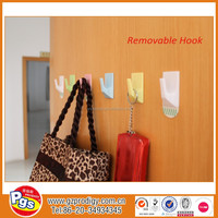 PS square plastic sticker removable utility hook