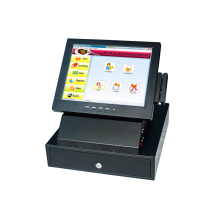The cheappest price POS 8812 pos cash register touch machine all in one pos terminal with cash drawer