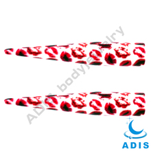 Gauges ear expander piercing jewelry Sexy Red lip acrylic tapers