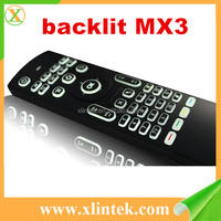 Backlit MX3 Air fly mouse 2.4G backlight wireless keyboard MX3 for android tv box