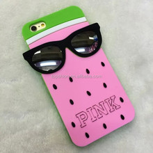 Top Saler Fruit Style 3D Silicone Rubber Covers Phone Case For iPhone 5 6 6 Plus For Sumsang S3 S4 S5 S6