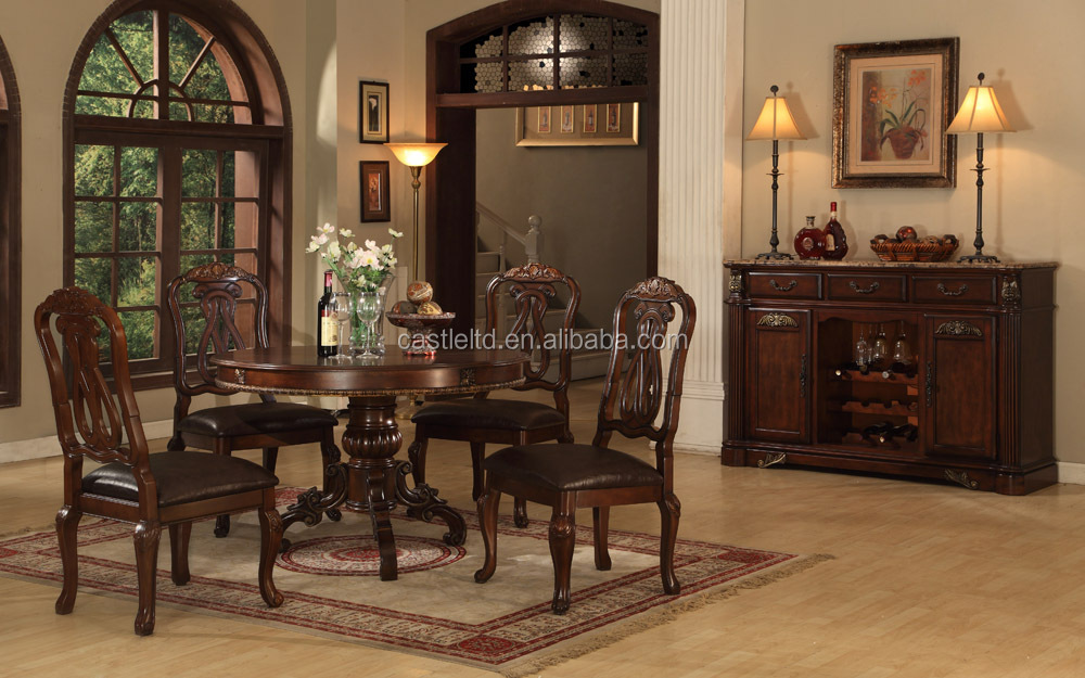 Antique wooden dining room