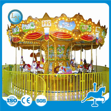 Kids favourite carnival ride merry go round amusement park mini carousel for sale