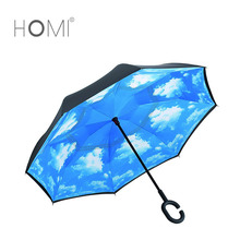 New Invention Upside Down Waterproof Carrying Bag Free Hand Inverted Umbrella