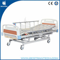 China BT-AM106 cheap hospital medical manual crank bed price, handicap furniture
