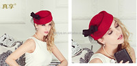 England gauze and red beret wool hat female lace ,wool felt hat