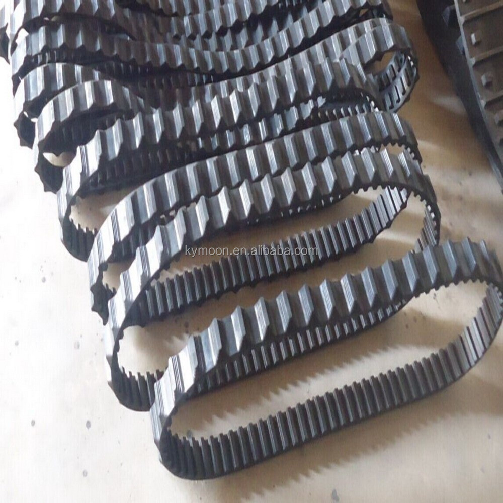 Small robot rubber track , wheelchair rubber track , stair climbers rubber track