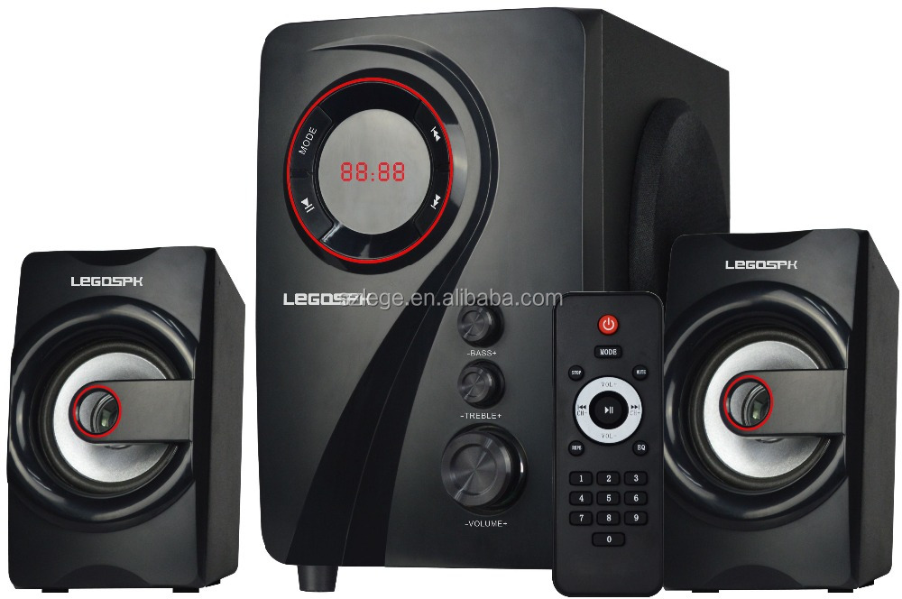2.1 speakers for dvd player/fm radio portable speaker with usb port