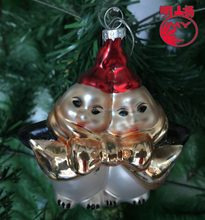 Factory decorative Snowman for Glass Christmas holiday ornaments