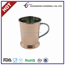 12oz FDA SAFE Stainless steel glossy gold/copper plated moscow mule Mug