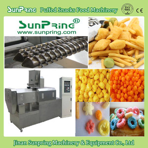 Jinan Sunpring corn snacks machine, corn puffs making machine, cheese ball production line