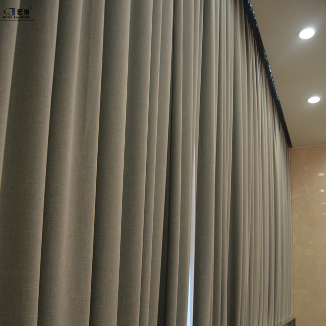 high quality Sheer and blackout 100% polyester solid color curtain hotel room window curtain