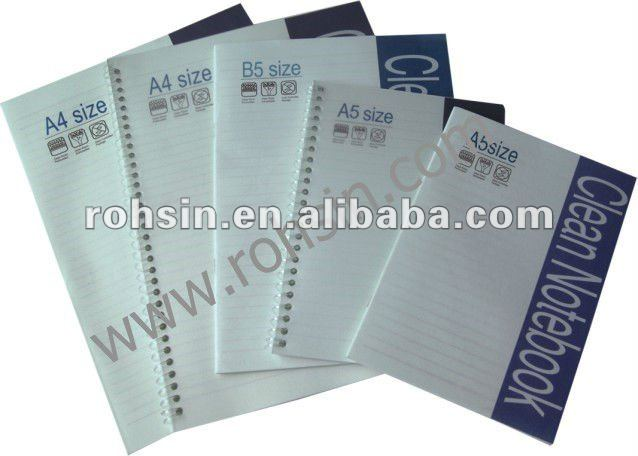 cleanroom notebook 50pags spiral type