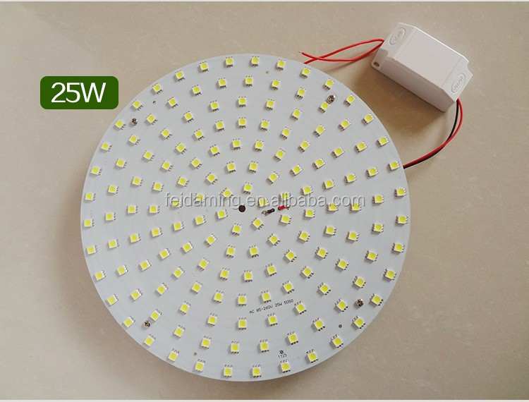 12w 18w 24w led round pcb for ceiling light, led circular ceiling lights PCB with CE/RoHS