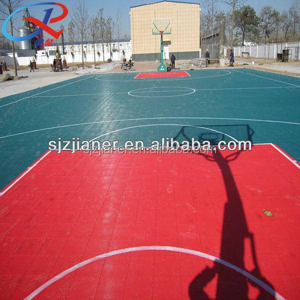 Plastic Interlock Tiles For Basketball
