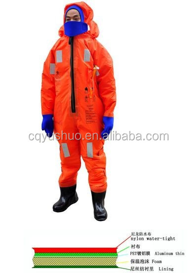 Marine ship boat red/orange SOLAS Immersion suits light CCS certification
