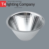 Double ended cone aluminium reflector