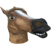 RJ-0141 Yiwu Caddy Halloween High quality Novelty Latex Rubber Horse full head animal masks