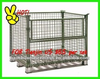 Rolling storage cage using to storage goods or feed animals