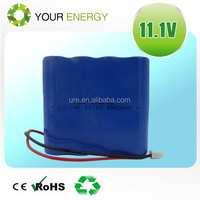 18650 11.1V 8800mAh flat li-ion battery pack