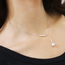 Sweet Heart Pearl Beads Necklaces Korea Style Pendant Chain Link Necklace Accessories For Women