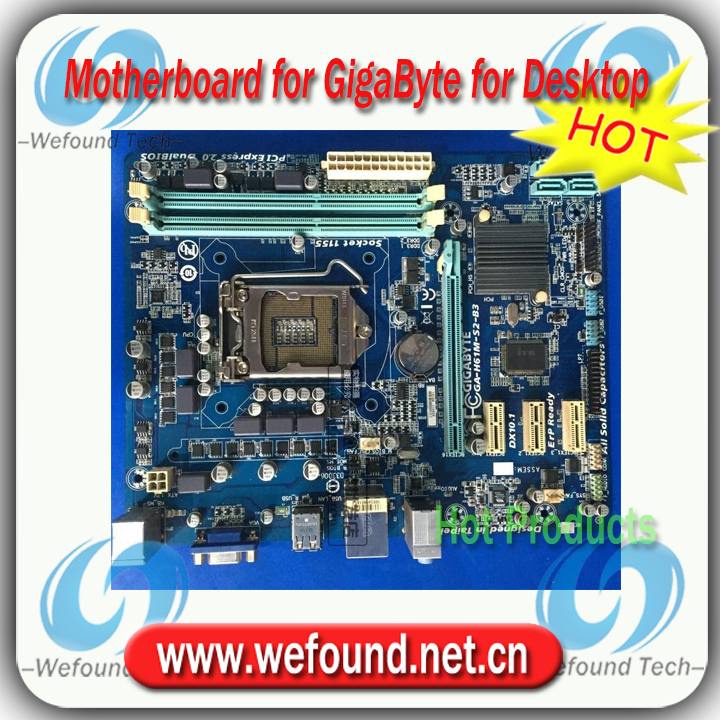 100% working for GigaByte H61M-S2-B3 motherboard for Desktop for Core i3 i5 i7 for LGA 1155 for DDR3 RAM