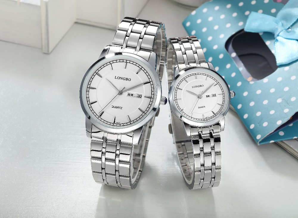 LongBo Watches couple watches hot promotion Stainless steel band OEM/ODEM Cheap Price Watches