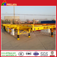 2-Axles 3-Axles Wheel Chassis 40 FT Containers Trailer For African Asian Market
