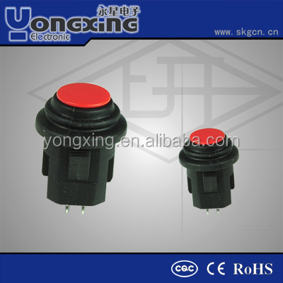 IP65 3A 250VAC mini waterproof silicone push button switch