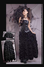 Q-104 stage black gothic women half-length pleated skirts