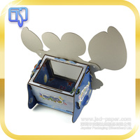 Creative custom printed cartoon paperboard box with clear lid