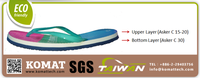 Dual Layer Patented Design 100% TPE Foam Material for Sandals Shoe