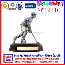 hot sale custom made resin sports ice hockey gifts