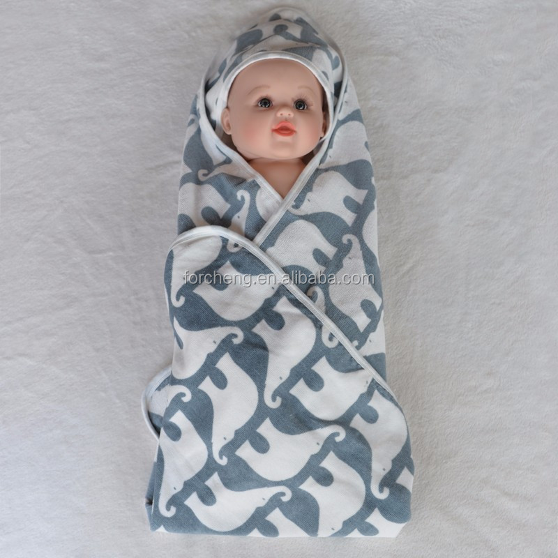 custom soft 100% Organic fleece kids hooded towel