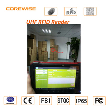 IP65 rugged smartphone android device rfid reader with barcode reader, fingerprint sensor