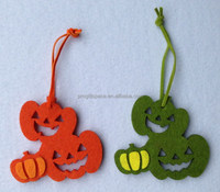 2017 new hot sale China products handmade home ornament whoelsale party craft decoration fabric felt hanging Halloween pumpkin