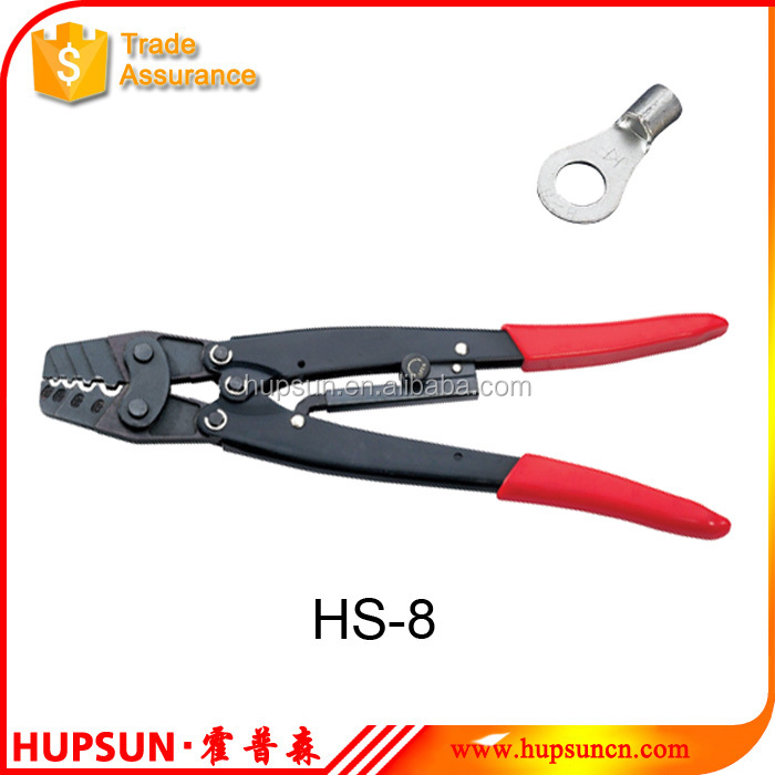 Non-insulated terminals 1.25-8mm2 ratcheting crimping tool wire crimper
